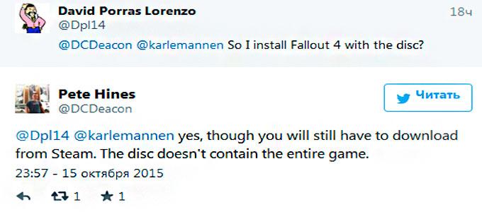 На диске PC-версии Fallout 4 будет только часть игры