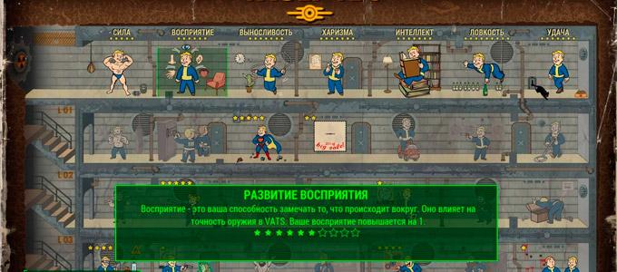 Fallout 4 Перки восприятия