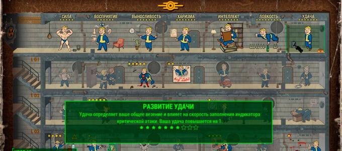 Fallout 4 Перки удачи