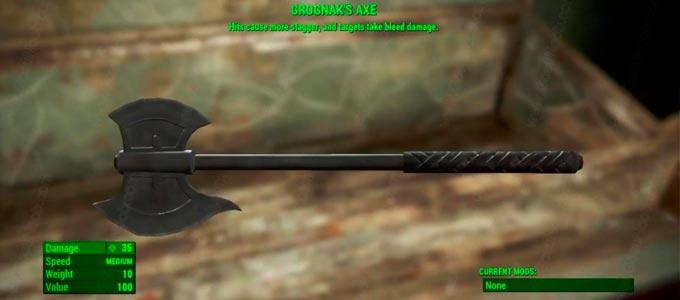 Топор Грогнака Fallout 4