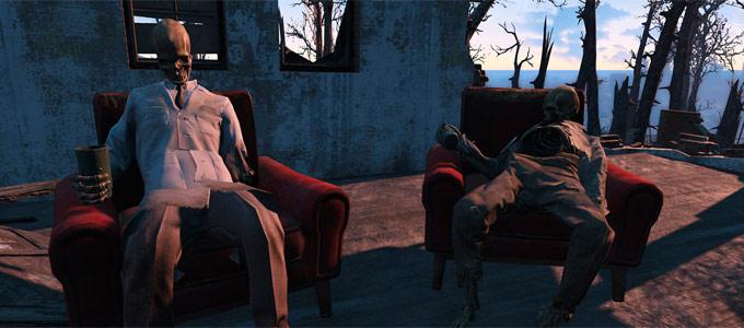 Карта Fallout 4 с отображением уровней сложности противников