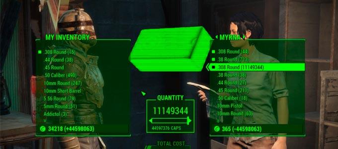Fallout 4 Как получить бесконечные крышки?