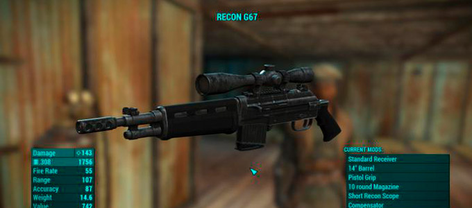 "Fallout 4 Мод ""G67 Battle Rifle - Standalone"""