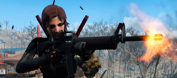 "Fallout 4 Мод ""Штурмовая винтовка M2216 ( 1.1 RU )"""