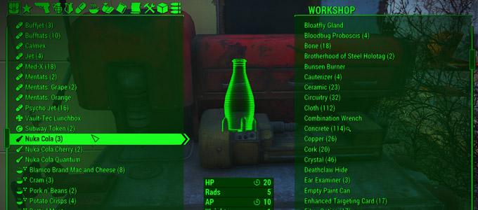 Улучшенный инвентарь для Fallout 4