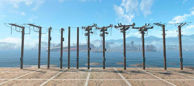 Fallout 4 электрические столбы