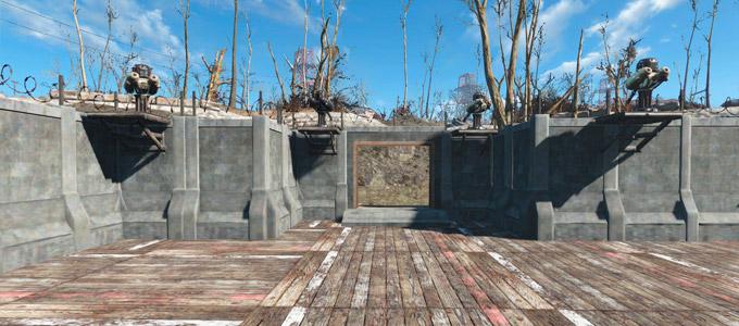 Fallout 4 Мод Бетонные постройки