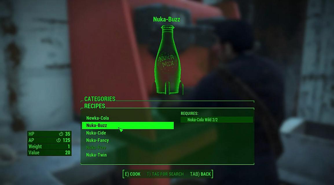 """Рецепты """"Ядер-Колы"""" в Fallout 4 Nuka-World Ядер – Бризер"""