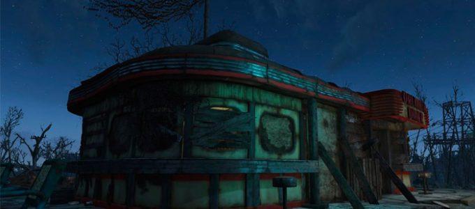 Улучшенная закусочная «Друмлин» Дома Моды для Fallout 4 / Фоллаут 4