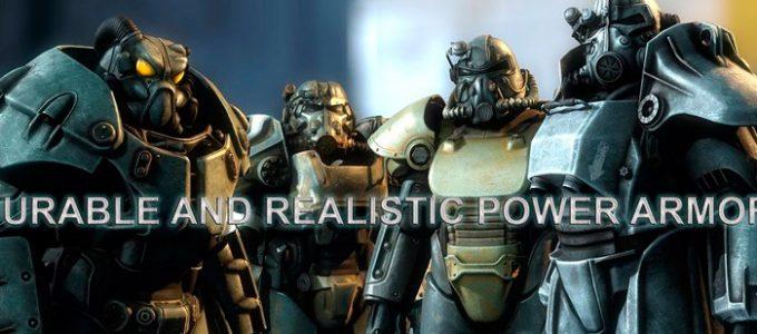 Прочная и реалистичная силовая броня Геймплей Моды для Fallout 4 / Фоллаут 4