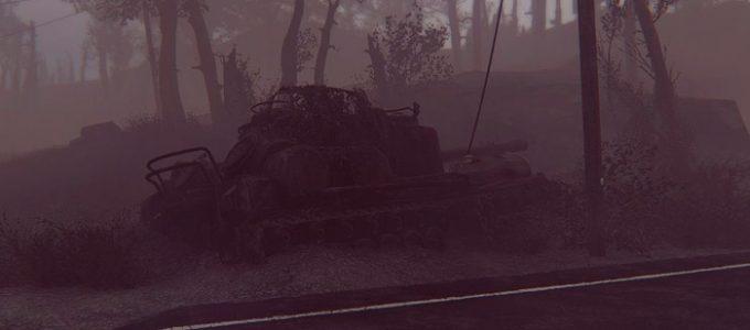 Заброшенный танк дом для игрока Моды для Fallout 4 / Фоллаут 4