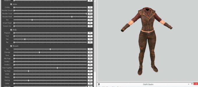 BodySlide и Outfit Studio Утилиты Программы Моды для Fallout 4 / Фоллаут 4