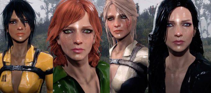 Цири, Йеннифер, Трисс и другие Пресет Лица Моды для Fallout 4 / Фоллаут 4