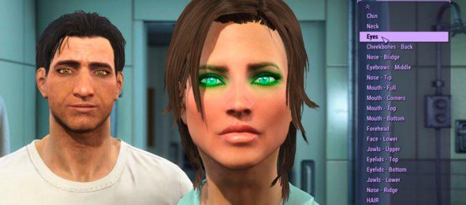 Looks Menu Меню настройки персонажа Моды для Fallout 4 / Фоллаут 4