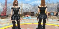 Платье Йеннифер CBBE Броня, Одежда Моды для Fallout 4 / Фоллаут 4