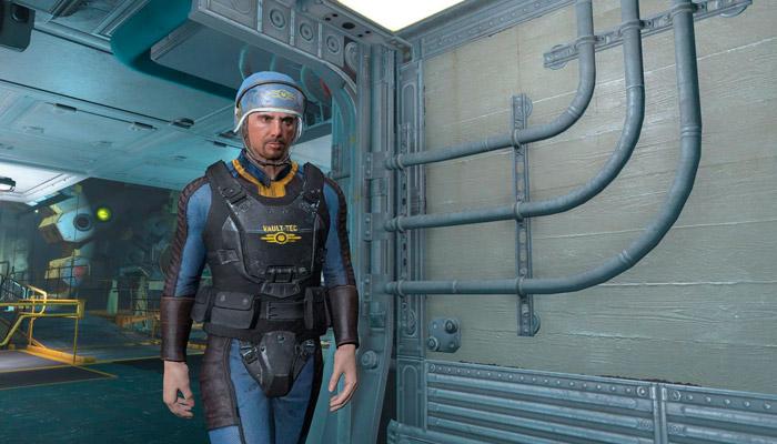 Реплейсер Волт-Тек брони охранников Моды для Fallout 4 / Фоллаут 4