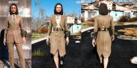 1950 Женские одеяния CBBE Стандарт Броня Моды для Fallout 4 / Фоллаут 4