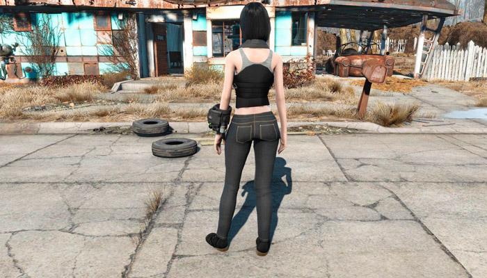Одеяние Инфорсера CBBE Броня, Одежда Моды для Fallout 4 / Фоллаут 4