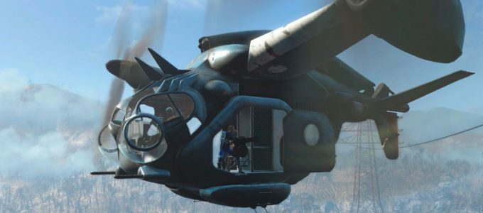 Прыгаем из Винтокрыла Геймлей Моды для Fallout 4 / Фоллаут 4