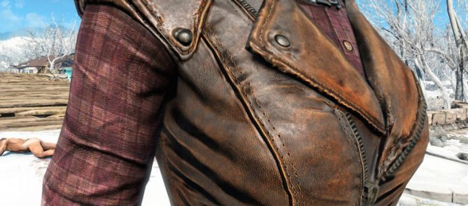 HD кожаная броня Моды для Fallout 4 / Фоллаут 4