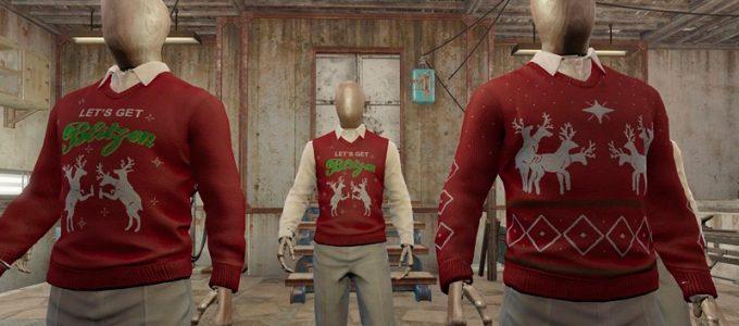 Рождественские свитеры Броня Моды для Fallout 4 / Фоллаут 4