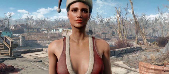 Помощник Санты CBBE Нуд Броня Моды для Fallout 4 / Фоллаут 4