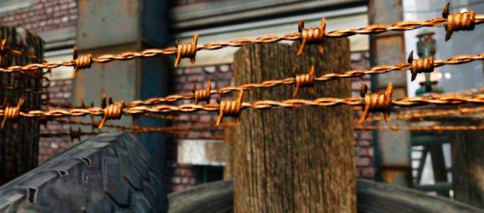 Ретекстур колючей проволоки Моды для Fallout 4 / Фоллаут 4